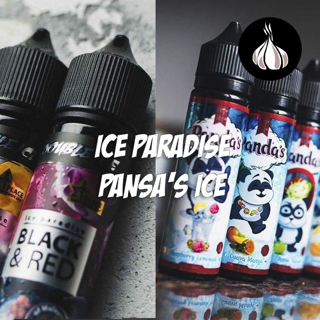 Обзор по чесноку - жидкостей ICE PARADISE и PANSA'S ICE