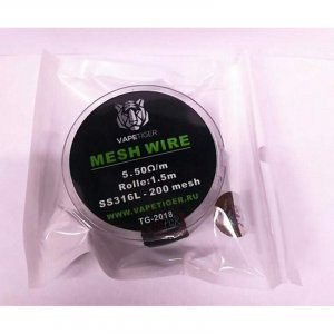 Mesh Wire SS316 200 5.5 ohm/m 1.5m