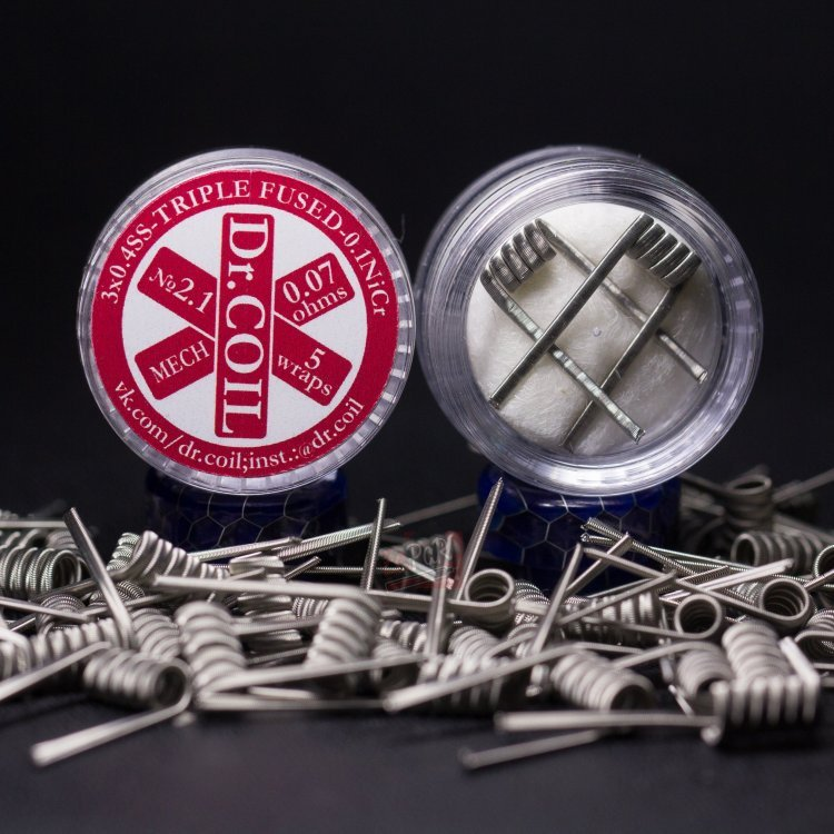 Triple Fused Clapton Coil № 2.1 (0,07 Ом) by Dr. Coil в Хабаровске